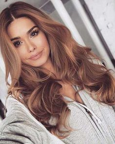 Best Light Brown Hair Color Ideas for 2018 – Page 14 of 28 – Cute Haircuts Ideas – hair – hair Hair Color Auburn, Carmel Hair Color, Brown Hair Dye Colors, Brown Auburn Hair, Auburn Ombre, Hair Colours, Brunette Hair, Gorgeous Hair, Beautiful