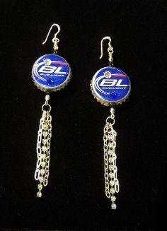 b473f4c377 Bud Light Bottle Cap Earrings - Pistols and Pearls - Jewelry, Accessories