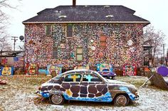 """Heidelberg Project (Saab 96 Art Car)."" --carthouse."