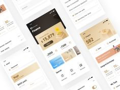 Finance(black-gold) designed by wenwenzwy for UIGREAT Studio. Connect with them on Dribbble; Web Design, App Ui Design, Site Design, Flat Design, Design Art, Gold App, Black App, Ui Design Mobile, Design Responsive