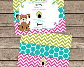 Puppy party invitations from Etsy