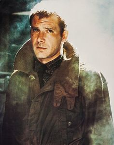 Harrison Ford in a publicity still for Blade Runner (1982)