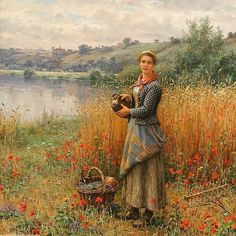 SOLD ARCHIVES  Daniel Ridgway Knight (1839 - 1924) Madeleine in a Wheat Field Oil on canvas 26 x 21 1/2 inches Signed and inscribedParis  Provenance M.Knoedler & Co., Paris/NY (#10258), April 16, 1903, f3500 Col. H.O. Seixas, NYC, April, 30, 1903, $700.00 M. Knoedler & Co., NY (#10513), Sept. 20, 1904, $750.00 (credit for return) Jas. D. Gill, Springfield, MA., Feb. 11, 1905, $800.00 Private collection, Texas Rehs Galleries, Inc., New York City Private collection  Painted c.1903…
