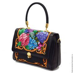 """Купить Сумка """"Гортензии"""" - сумка ручной работы, Сумка с вышивкой, вышитая сумка, оригинальная сумка"""
