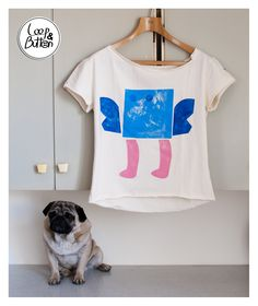 SquareMonster handmade t-shirt    size: S, M, L