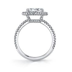 Modern East-West Marquis Diamond Engagement Ring