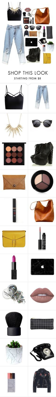 """""""Untitled #16"""" by mcdonnell-kaetlyn ❤ liked on Polyvore featuring Alexis Bittar, MAC Cosmetics, The Code, Smashbox, Angela & Roi, NARS Cosmetics, Lime Crime, GPO and True Religion"""
