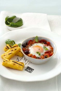 Baked eggs with chorizo and salsa