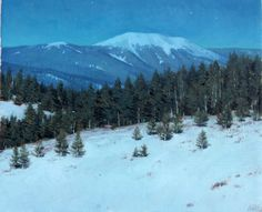 Full Moon in New Mexico, by Larry Selman, original in Private collection