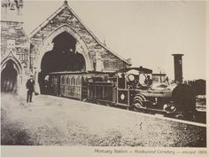 Mortuary Station Rookwood. Train at platform