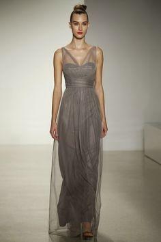 Illusion Straps Bridesmaid Dresses: Amsale Fall 2014 Collection