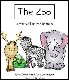 zoo unit to print. Covers writing, math, art...