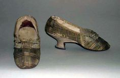 """I have been waiting to post these #silk """"plaid"""" shoes for some time - there is something about them I find terribly appealing. I could see wearing them today with cuffed jeans & soft sweater. What do you think, kind readers? Yea or nay? They are either American or European, date to c. 1780. From the Metropolitan Museum, Acc.# C.I.39.13.58a, b @Metropolitan Museum of Art"""