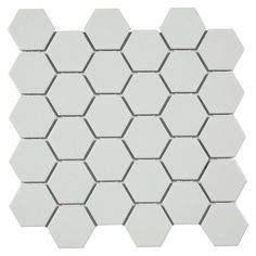 Metro White Matte Hexagon Porcelain Mosaic - 12in. x 12in. - 100139260 | Floor and Decor