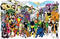 Some of John Byrne's classic superhero art.