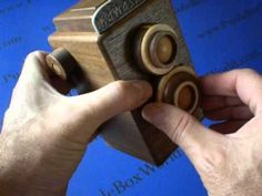 The BEAUTIFUL Twin-lens reflex camera Japanese Puzzle Box !  NOT A SPOILER