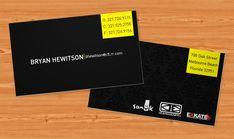 BryanHewitsonBC 100 Refreshing Black & White Business Cards