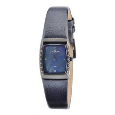 Skagen Women's 684XSMLM Skagen Denmark Black Mother-Of-Pearl Square Leather Wo Watch Skagen. $68.99. Water-resistant to 30 M (99 feet). Case diameter: 24 mm. Durable mineral crystal protects watch from scratches,. Women's mother-of-pearl dial, crystal accented leather watch. Quartz movement