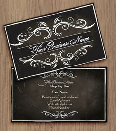 Vintage Style Duble Side Business Card Pre Made By Naomigraphics 15 00