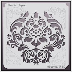 Shop by Style - Wall Stencils - Damask Stencils - Page 1 Damask Stencil, Stencil Patterns, Stencil Painting, Stencil Designs, Fabric Painting, Bird Stencil, Faux Painting, Decoupage, Diy And Crafts