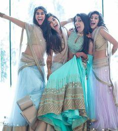 Amazing bridesmaids photo ideas for your wedding day! Sister Photography, Indian Wedding Photography Poses, Photography Poses Women, Best Photo Poses, Girl Photo Poses, Girl Poses, Sister Poses, Indian Bridal Photos, Stylish Photo Pose