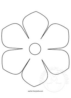 printable flower template free pattern to trace templates be fresh 5 petal flower template free printable Soda Can Flowers, Large Paper Flowers, Wooden Flowers, Felt Flowers, Diy Flowers, Flower Petal Template, Leaf Template, Easter Templates, Templates Printable Free