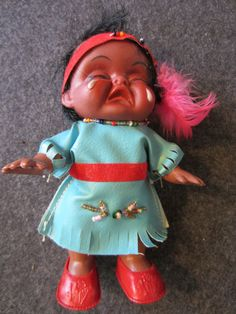 Vintage Native American Crying Indian Doll