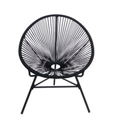 Inspired by Acapulco Chair. One of the most famous designs of the 20th century. Black lacquered steel structure. Plastic mesh made of polyethylene threads. Available in different colors. The MEXICO COLORS Chair, inspired by the Acapulco chair, is one of the mos famous designs og the 20th century. This is an anonymous design that emerged in the 1950s the favorite holiday place of many actors and famous of Hollywood: Acapulco, Mexico. The plastic threads configure a fresh and permeable mesh…