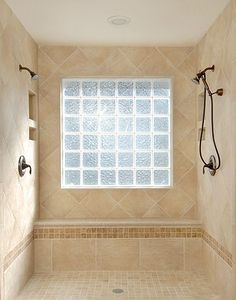 Remodel Bathroom With Window In Shower glass block window in shower | bathroom ideas | pinterest | glass
