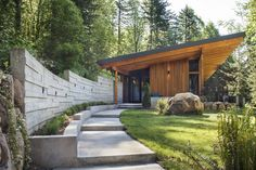 Brightwood Cabin Tagged: Exterior, Wood Siding Material, and House Building Type. Brightwood Cabin by Scott Wood Architecture, Residential Architecture, Architecture Details, Concrete Siding, Wood Siding, Rammed Earth Homes, Cabana, Modern Exterior, Modern Roofing