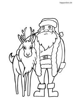 kostenlose wunderschöne malvorlage vom weihnachtsmann. ausmalbild-weihnachten ausmalbilder