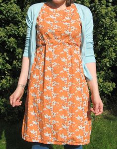 Dottie Angel frock minus the pockets, with a tie pocket instead of tucks (more in line with the original design of this dress) More importantly that fabric is to die for.
