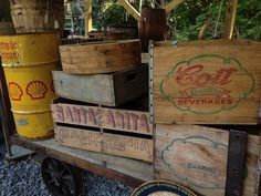 Cool advertising crates.