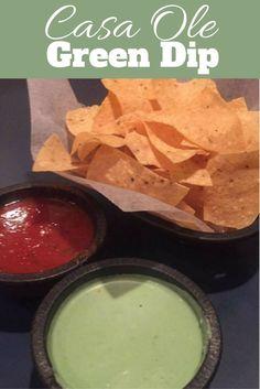 Casa ole green dip recipe - The best dip ever!