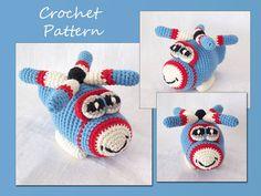 Amigurumi Crochet Pattern, Helicopter Crochet Pattern, Pdf Crochet Pattern