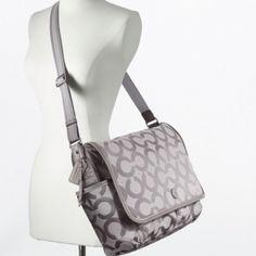 Coach baby bag op art messenger