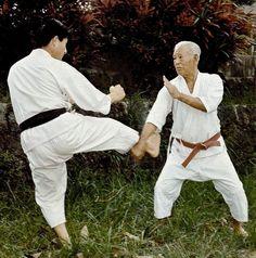 Hohan Soken Hanshi Matsumura Seito Shorin Ryu Isshin Ryu, Karate Styles, Kempo Karate, Okinawan Karate, Goju Ryu, Streets Have No Name, Self Defense Martial Arts, Martial Artists, Combat Sport