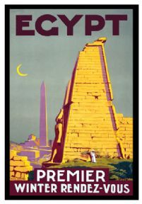 Vintage Travel Poster Egypt Premier Winter Rendezvous c.1930s By: Roger Bréval
