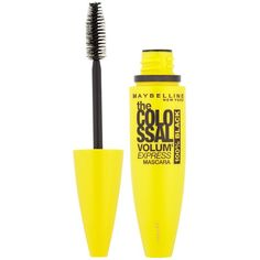 Maybelline Colossal Mascara 100% Black ($13) ❤ liked on Polyvore featuring beauty products, makeup, eye makeup, mascara, maybelline, maybelline mascara and maybelline eye makeup