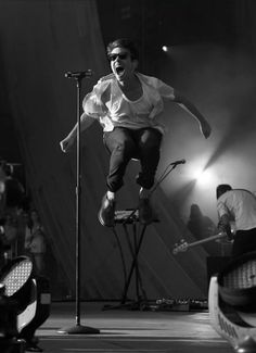 Nate Ruess<< he gets so into it and can still sing just as amazingly as usual even when jumping like this!