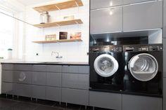 Upphöjd tvättmaskin & torktumlare