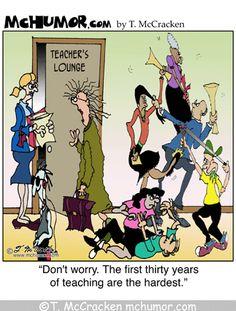 teacher cartoons   Teacher Cartoon   The First Thirty Years of Teaching Are The Hardest