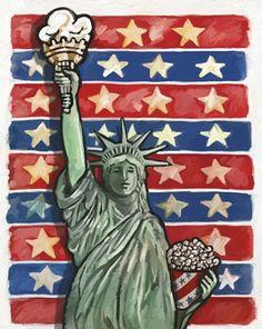 Framed Popcorn Statue Of Liberty Print Framed Art, Framed Prints, Framed Canvas, Canvas Art Prints, Fine Art Prints, Statue Of Liberty, Pop Art, Art Projects, Artwork