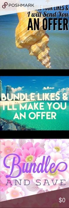 Bundle your likes and get a private offer from me! Bundle your likes and receive a private offer from me! With no obligation to buy! No hassle, very simple and great new Poshmark feature! I always give free gifts 🎁 to all my customers with all purchases no matter how big or small! I usually accept most reasonable offers. Happy Poshing everyone!💕 Tops