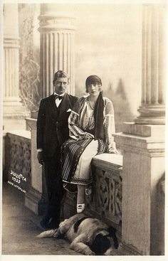 Son of Queen Marie of Romania (previously Princess Marie of Edinburgh) Crown Prince Carol of Romania with his fiance Princess Helena of Greece with a dog. Romanian Royal Family, Greek Royalty, Casa Real, Men With Street Style, Blue Bloods, Queen Mary, Royal House, Kaiser, Crown Jewels