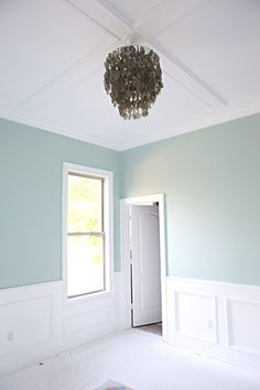 Benjamin Moore's Palladian Blue - think I found the color scheme for the bedroom!