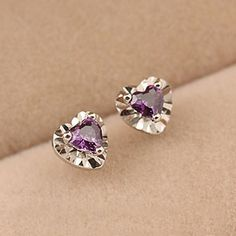 Find More Stud Earrings Information about Free Shipping 925 sterling silver jewelry earrings crystal heart stud earrings wholesale Pendientes Brincos de plata,High Quality Stud Earrings from MM Vogue Jewelry Shop. on Aliexpress.com