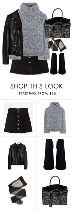 """Untitled#4389"" by fashionnfacts ❤ liked on Polyvore featuring Zara, Vika Gazinskaya and Yves Saint Laurent"