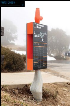 Falls Creek ski resort wayfinding sign