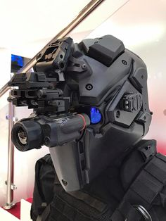 Yokohama, Japan's Devtec started off as an airsoft company but their Ronin ballistic helmet has left plastic BBs behind and is now NIJ Level tested and showing up at international arms trade shows. Tactical Helmet, Airsoft Helmet, Concept Weapons, Armor Concept, Taktischer Helm, Futuristic Armour, Sci Fi Armor, Combat Gear, Tactical Equipment